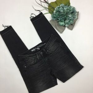 Mossimo Jeans Size 0R Mid Rise Skinny Fray